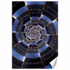 Midnight Crazy Dart Canvas 12  X 18   by designworld65