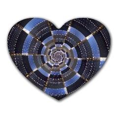 Midnight Crazy Dart Heart Mousepads by designworld65
