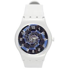 Midnight Crazy Dart Round Plastic Sport Watch (m) by designworld65