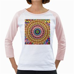 Peaceful Mandala Girly Raglans