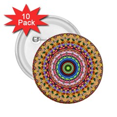 Peaceful Mandala 2 25  Buttons (10 Pack)  by designworld65