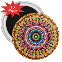 Peaceful Mandala 3  Magnets (10 Pack)  by designworld65