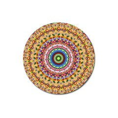 Peaceful Mandala Magnet 3  (round)