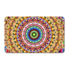 Peaceful Mandala Magnet (rectangular) by designworld65