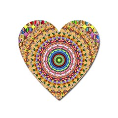 Peaceful Mandala Heart Magnet by designworld65