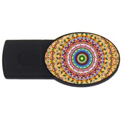 Peaceful Mandala Usb Flash Drive Oval (4 Gb) by designworld65