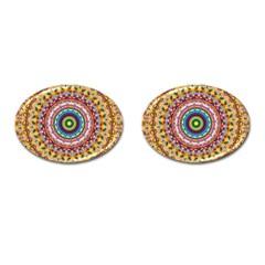 Peaceful Mandala Cufflinks (oval) by designworld65