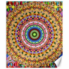Peaceful Mandala Canvas 20  X 24   by designworld65