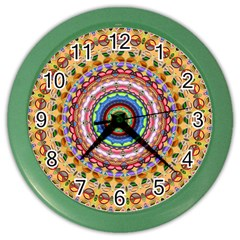 Peaceful Mandala Color Wall Clocks by designworld65