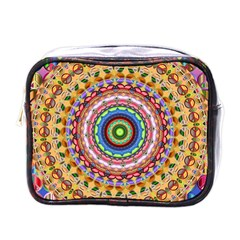 Peaceful Mandala Mini Toiletries Bags by designworld65