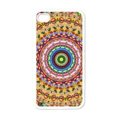 Peaceful Mandala Apple Iphone 4 Case (white) by designworld65