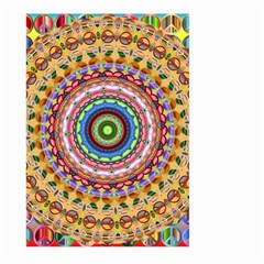Peaceful Mandala Large Garden Flag (two Sides) by designworld65