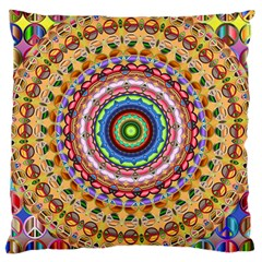 Peaceful Mandala Large Cushion Case (two Sides) by designworld65