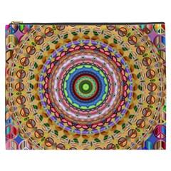 Peaceful Mandala Cosmetic Bag (xxxl)  by designworld65