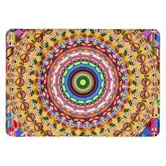 Peaceful Mandala Samsung Galaxy Tab 8 9  P7300 Flip Case by designworld65