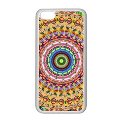 Peaceful Mandala Apple Iphone 5c Seamless Case (white) by designworld65