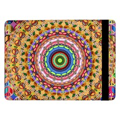 Peaceful Mandala Samsung Galaxy Tab Pro 12 2  Flip Case by designworld65