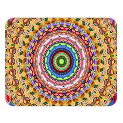 Peaceful Mandala Double Sided Flano Blanket (large)  by designworld65