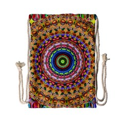 Peaceful Mandala Drawstring Bag (small) by designworld65