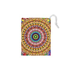 Peaceful Mandala Drawstring Pouches (xs)  by designworld65