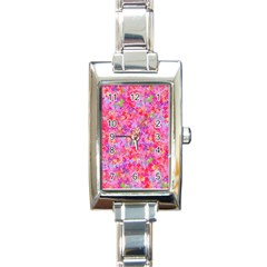 The Big Pink Party Rectangle Italian Charm Watch by designworld65