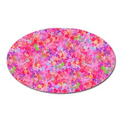 The Big Pink Party Oval Magnet by designworld65