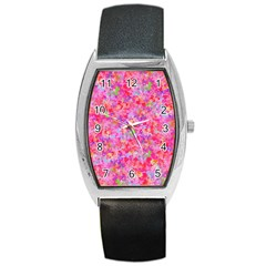The Big Pink Party Barrel Style Metal Watch by designworld65