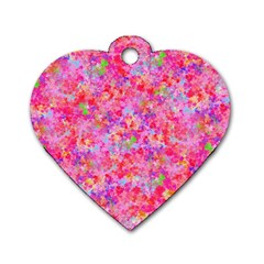 The Big Pink Party Dog Tag Heart (one Side) by designworld65
