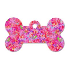 The Big Pink Party Dog Tag Bone (one Side) by designworld65