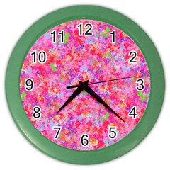 The Big Pink Party Color Wall Clocks by designworld65