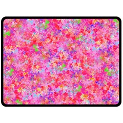 The Big Pink Party Double Sided Fleece Blanket (large)  by designworld65