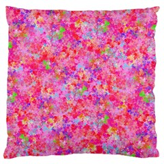 The Big Pink Party Large Flano Cushion Case (one Side) by designworld65