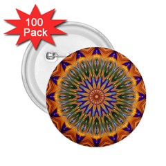 Powerful Mandala 2 25  Buttons (100 Pack)  by designworld65