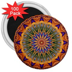 Powerful Mandala 3  Magnets (100 Pack) by designworld65