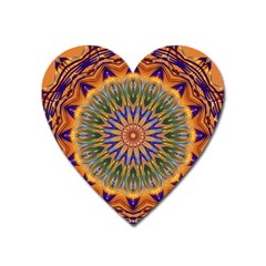 Powerful Mandala Heart Magnet by designworld65