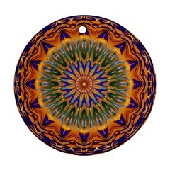 Powerful Mandala Round Ornament (two Sides) by designworld65