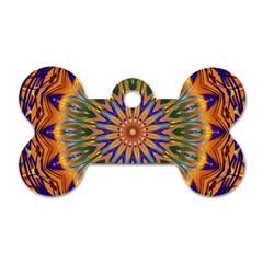 Powerful Mandala Dog Tag Bone (two Sides) by designworld65