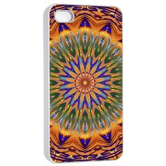 Powerful Mandala Apple Iphone 4/4s Seamless Case (white) by designworld65