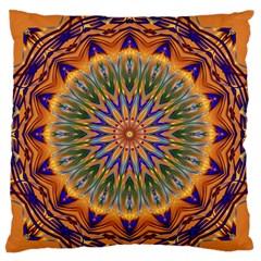 Powerful Mandala Standard Flano Cushion Case (two Sides) by designworld65
