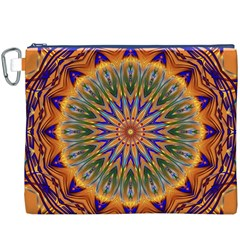 Powerful Mandala Canvas Cosmetic Bag (xxxl) by designworld65