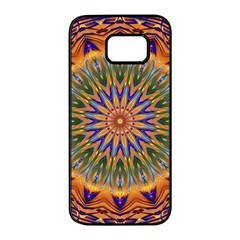 Powerful Mandala Samsung Galaxy S7 Edge Black Seamless Case by designworld65