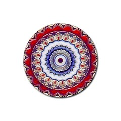 Romantic Dreams Mandala Rubber Round Coaster (4 Pack)  by designworld65