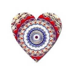 Romantic Dreams Mandala Heart Magnet by designworld65