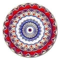 Romantic Dreams Mandala Magnet 5  (round) by designworld65
