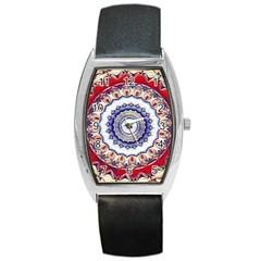 Romantic Dreams Mandala Barrel Style Metal Watch by designworld65