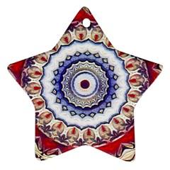Romantic Dreams Mandala Star Ornament (two Sides) by designworld65