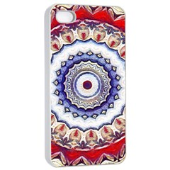 Romantic Dreams Mandala Apple Iphone 4/4s Seamless Case (white) by designworld65