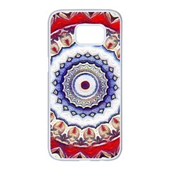 Romantic Dreams Mandala Samsung Galaxy S7 Edge White Seamless Case by designworld65