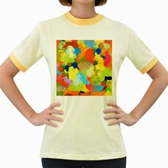 Summer Feeling Splash Women s Fitted Ringer T Shirts by designworld65
