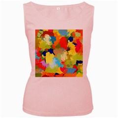 Summer Feeling Splash Women s Pink Tank Top by designworld65